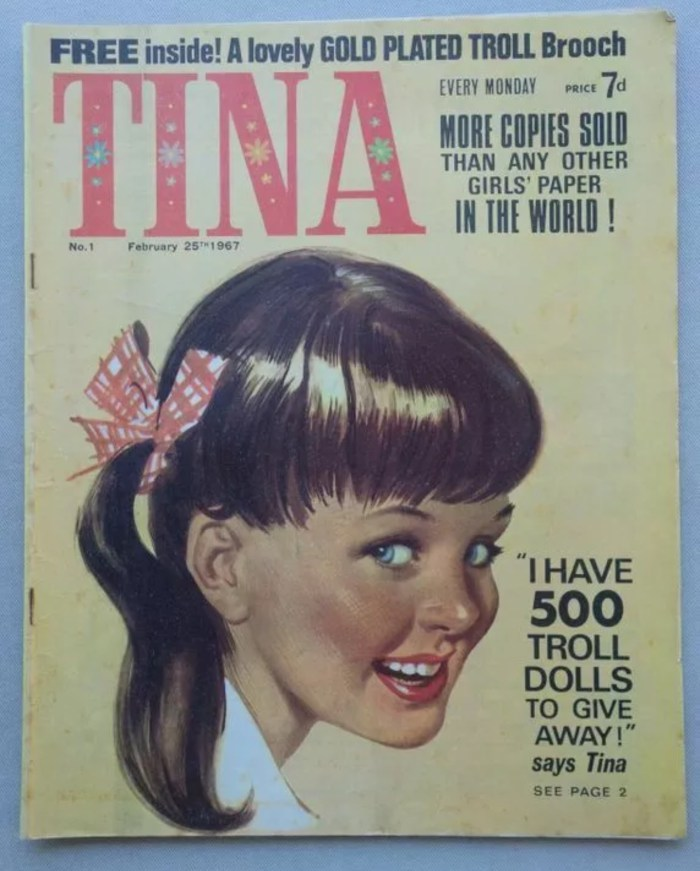 Tina Issue 1, cover dated 25th February 1967