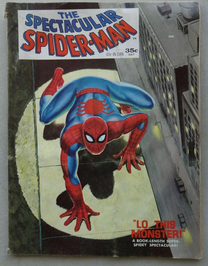 The Spectacular Spider-Man comic #1 - July 1968 - published by Marvel US