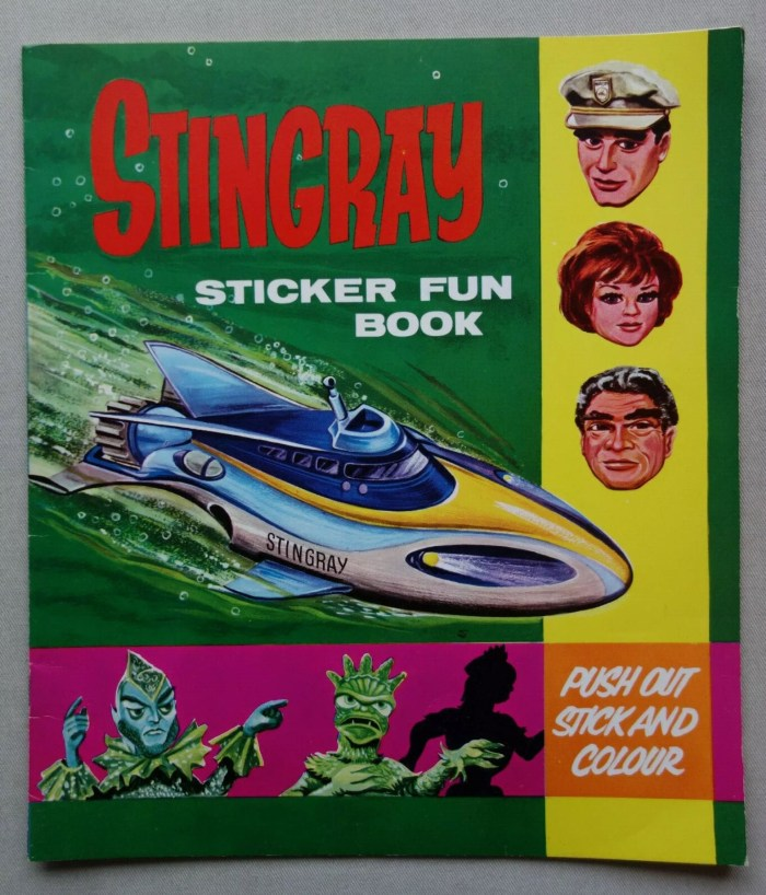 Stingray Sticker Fun Book, published by World Distributors in 1965