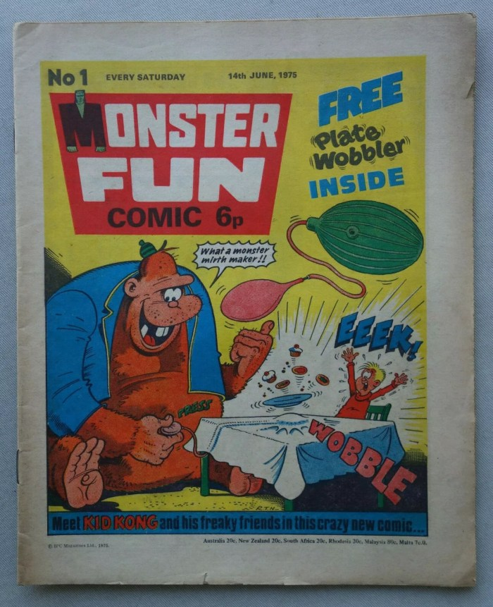 Monster Fun Issue One, cover dated 14th June 1975