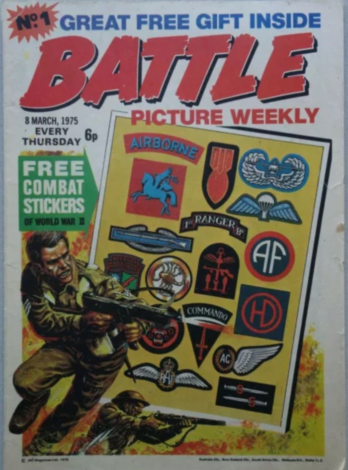 Battle Picture Weekly comic Issue 1 - cover dated 8th March 1975