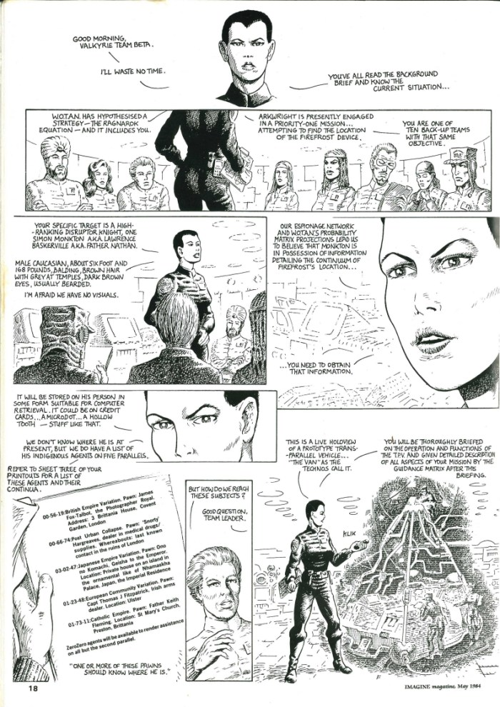 The Fire Opal of Set - published in May 1984 in Imagine magazine, which also had a cover drawn by Bryan Talbot, this two-page comic was an introduction to a scenario for the Traveller sci-fi roleplaying game