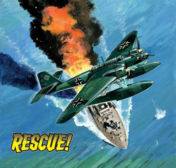 Commando 5318: Silver Collection - Rescue! Full Cover by John Ridgway