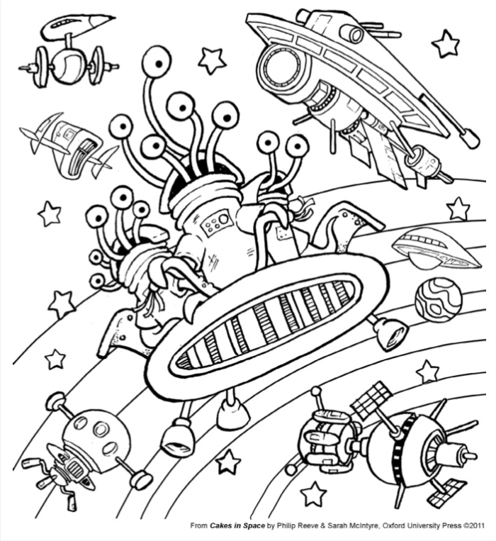Lakes International Comic Art Festival Colouring Sheet by Sarah McIntyre