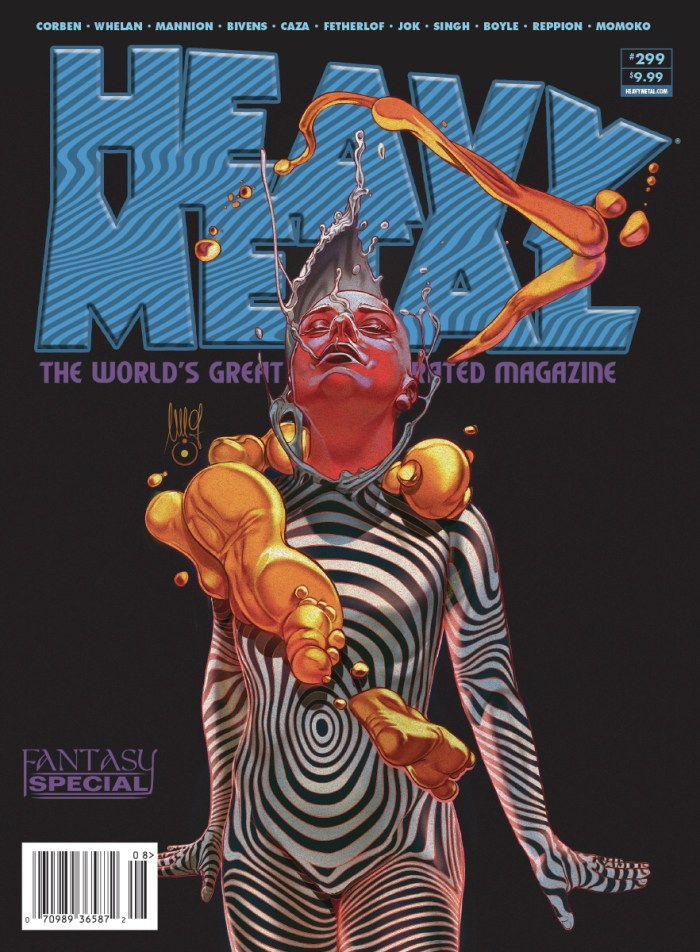 Heavy Metal Magazine 299 Cover A by Giovanni Maisto