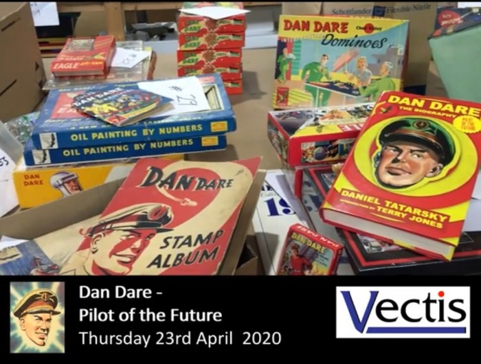 Dan Dare items in the Vectis Chris Freeman Meccano & Vintage Toy Collection Auction