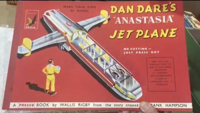 "Dan Dare ""Anastasia"" Jet Plane Presso Book by Wallis Rigby"