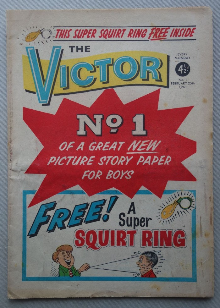 Victor comic #1 - cover dated 25th February 1961