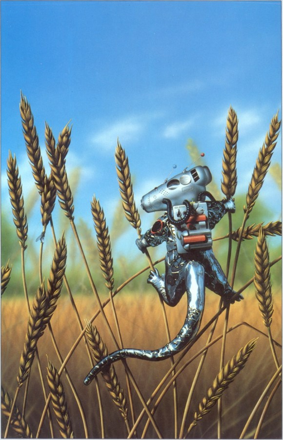 The Best Short Stories of Fredric Brown, published by New English Library in 1982. Art by Tim White