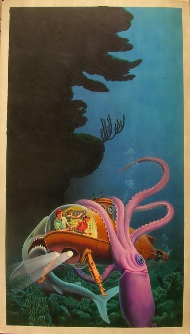 Danny Dunn Explores the Ocean Floor - art by Hector Garrido