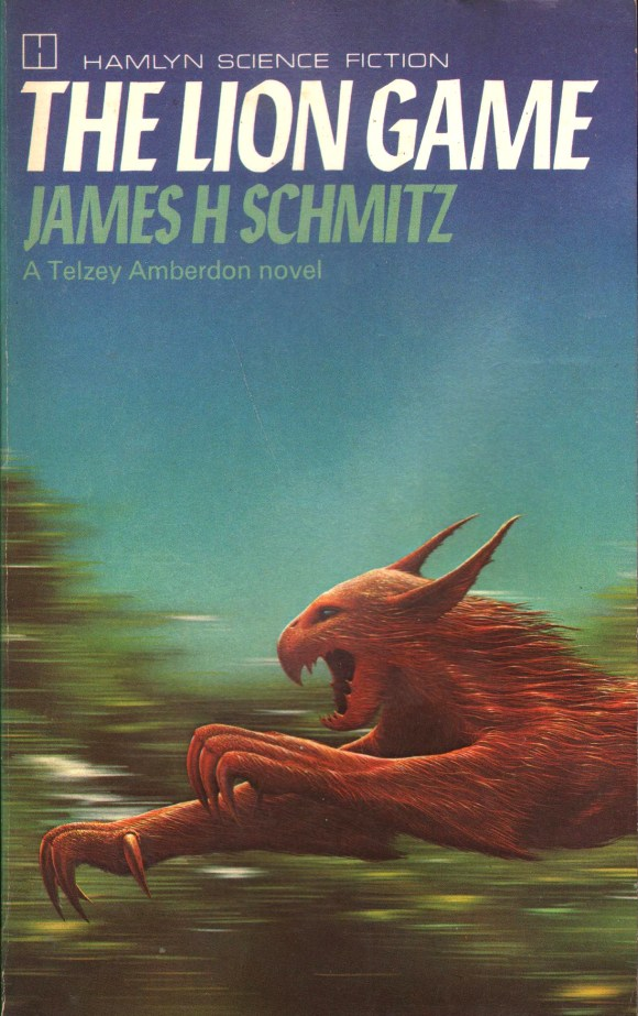 The Lion Game by James H. Schmitz (1979) - art by Tim White