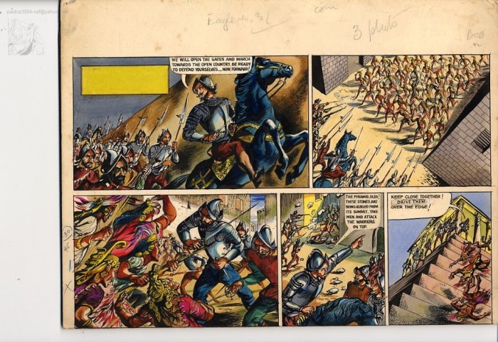 "Art from the Eagle strip ""Cortes – Conqueror of Mexico"""
