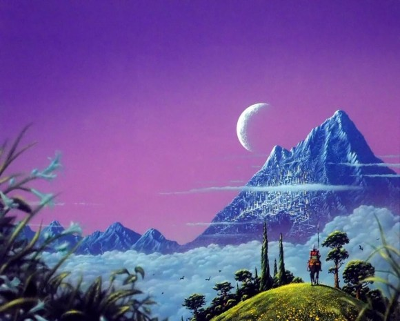 Tim White's cover art for Nine Princes in Amber by Roger Zelazny, published in 1970