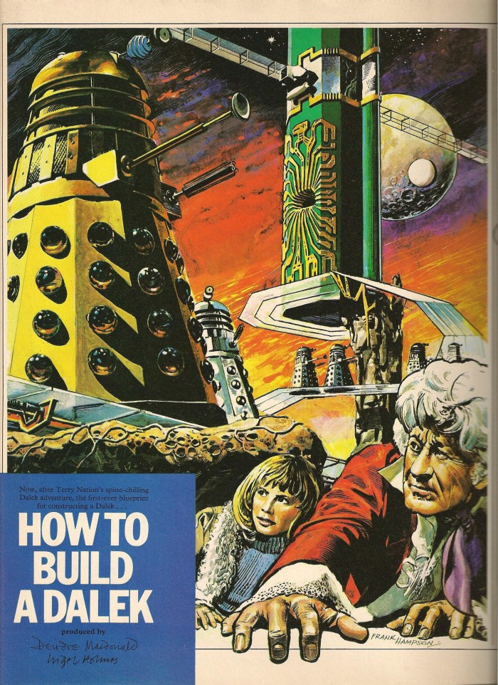 Frank Hampson's illustration for the Radio Times Doctor Who Tenth Anniversary Special