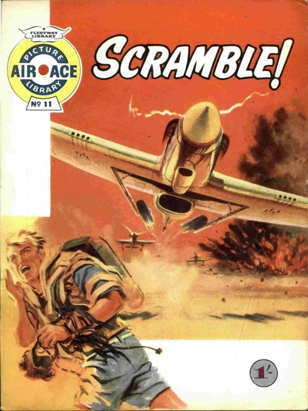 Air Ace Picture Library #11 first published June 1960. Cover art by Graham Coton