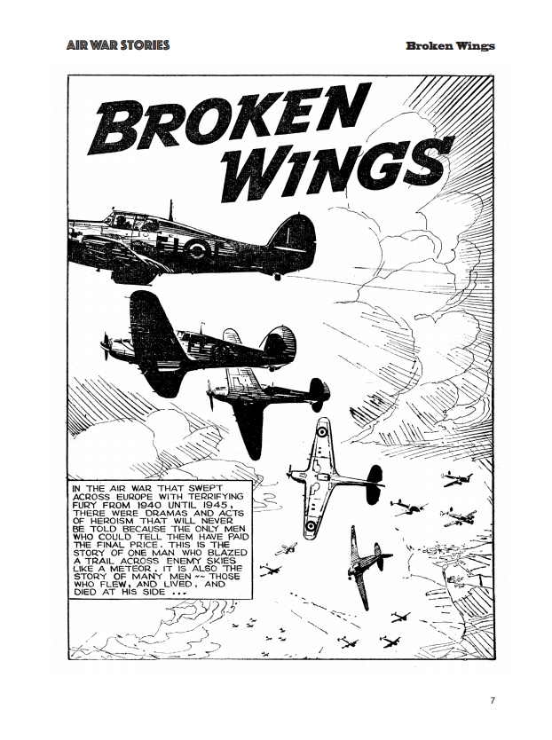 Fleetway Picture Library Classics - Air War Stories - Broken Wings