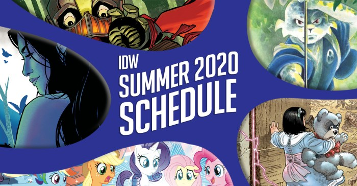 IDW Summer 2020 Schedule Promo