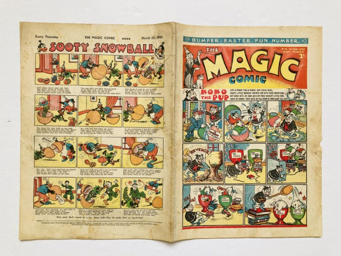 Magic Comic 36 (1940), the only Easter Fun Number. A very rare comic,  less than 10 copies known to exist