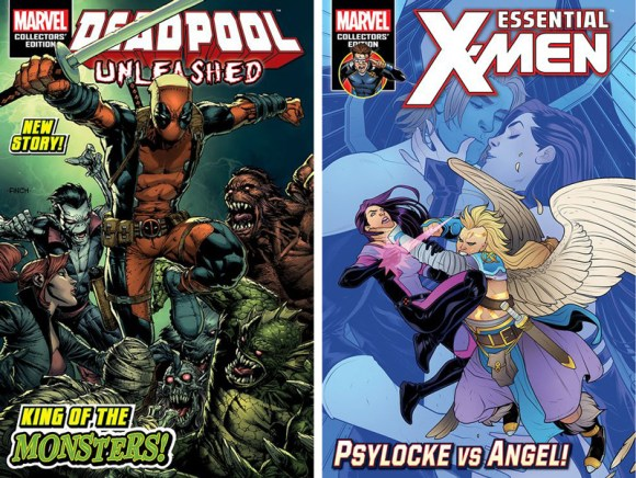 Deadpool Unleashed (Volume 2 #12) and Essential X-Men (#26)