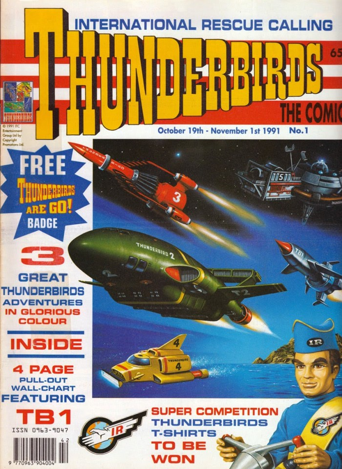 Thunderbirds the Comic Issue One - Cover by Steve Kyte