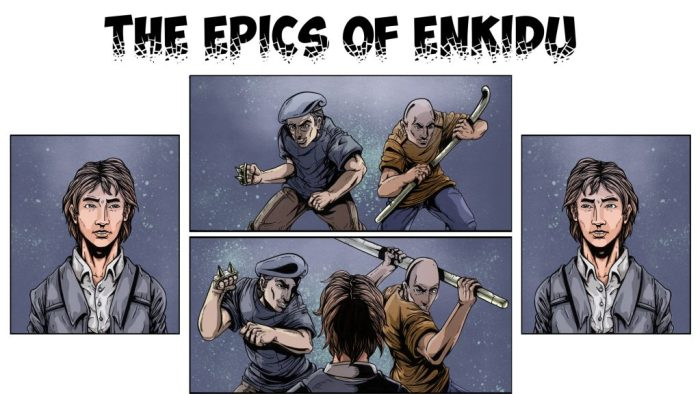 Art from Ahmed Alameen's The Epics of Enkidu project