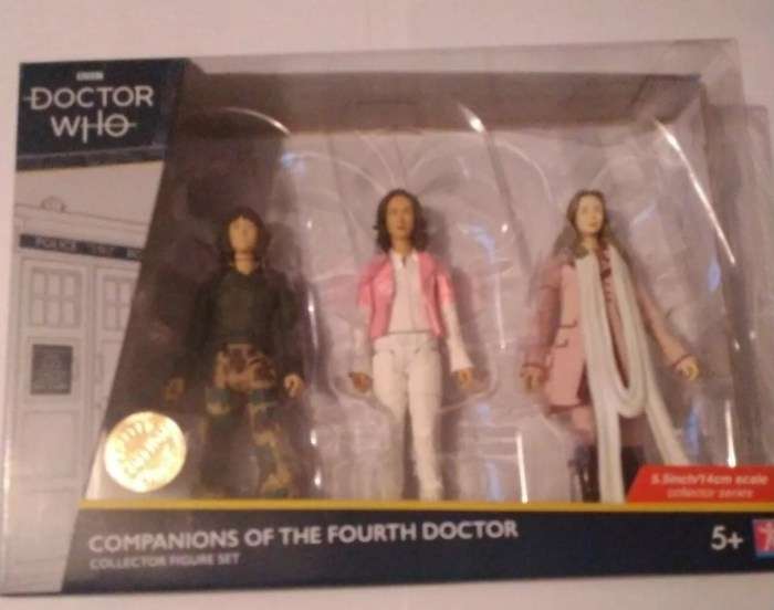 """Doctor Who 5"""" Character Options Companions of the Fourth Doctor figures"""