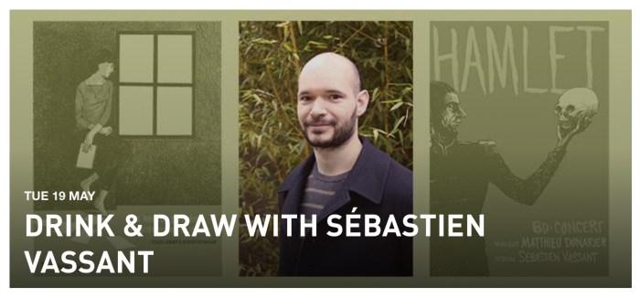Institut Français a Londres Beyond Words Festival 2020 - Drink & Draw with Sébastien Vassant