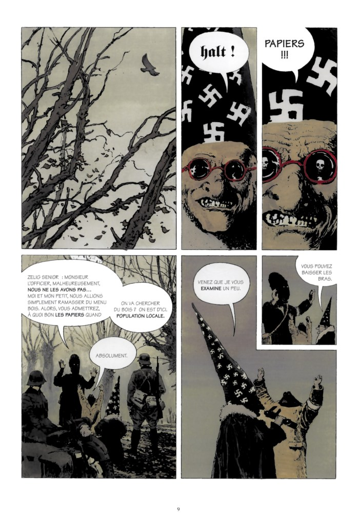 A page from the Polish graphic novel Achtung Zelig!