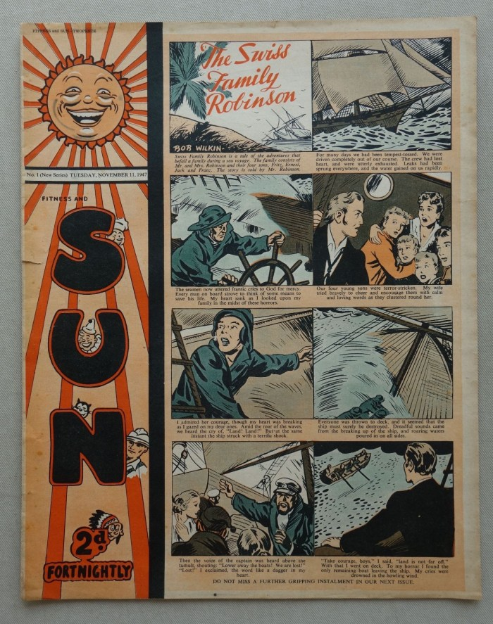 Sun No. 1 - cover dated 11th November 1947
