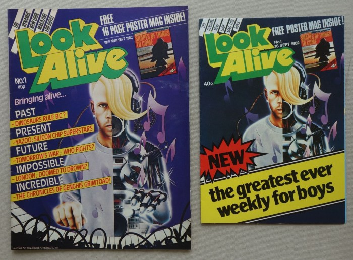 Look Alive magazine Issue 1 - cover dated 18th September 1982, and Preview Poster Magazine