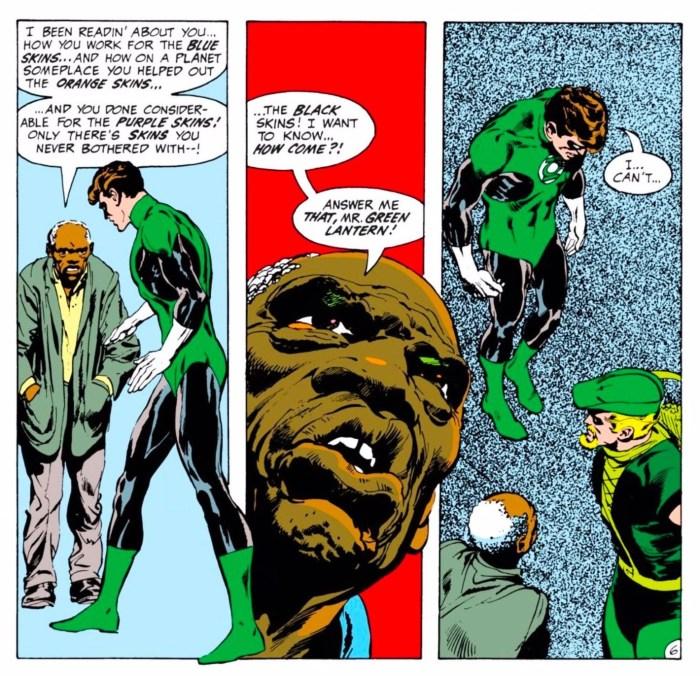 Excerpt from Green Lantern #76. Photo: Neal Adams; Cornelia Adams; and John Costanza / DC Entertainment