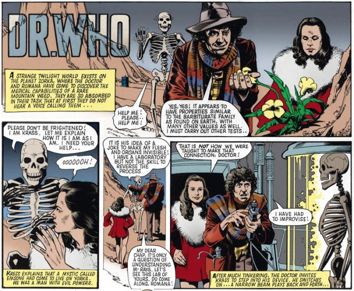 Doctor Who Strip by Brian Bolland