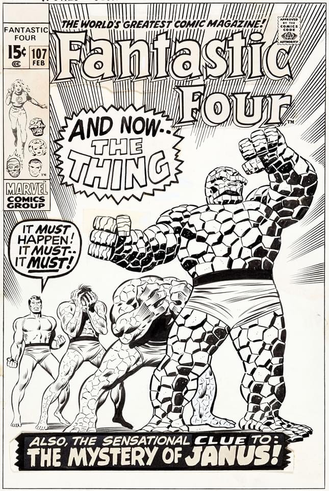 Fantastic Four #107 - Cover Art