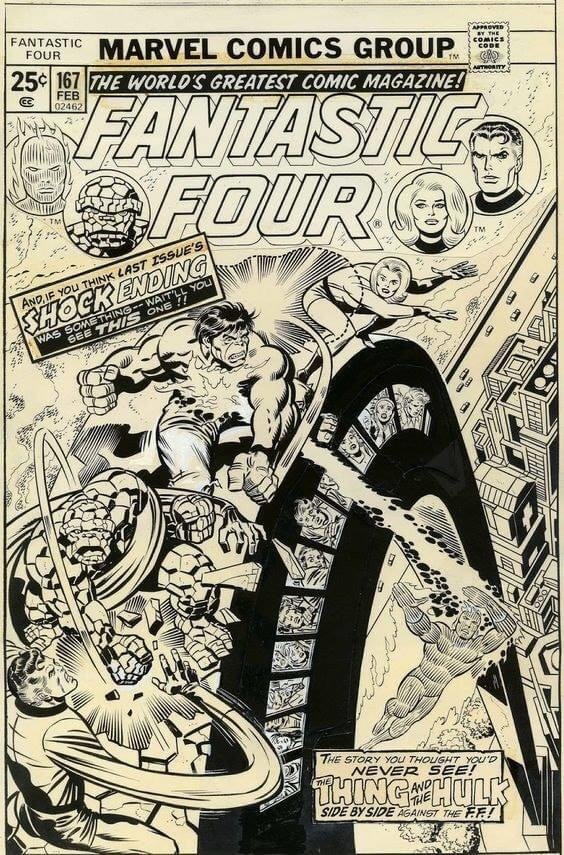 Fantastic Four #167 - Cover Art