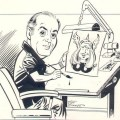 Pencil and ink self portrait by Joe Sinnott
