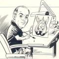 Pencil and ink self portrait by Joe Sinnott