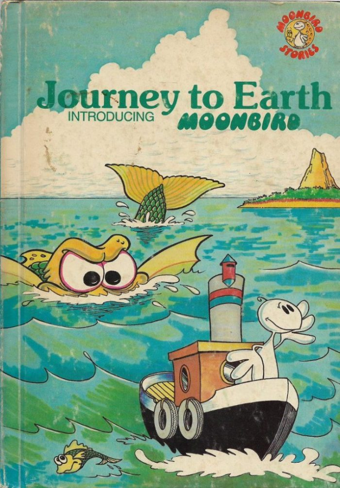 """The first Moonbird book, """"Journey to Earth"""", published in 1981"""