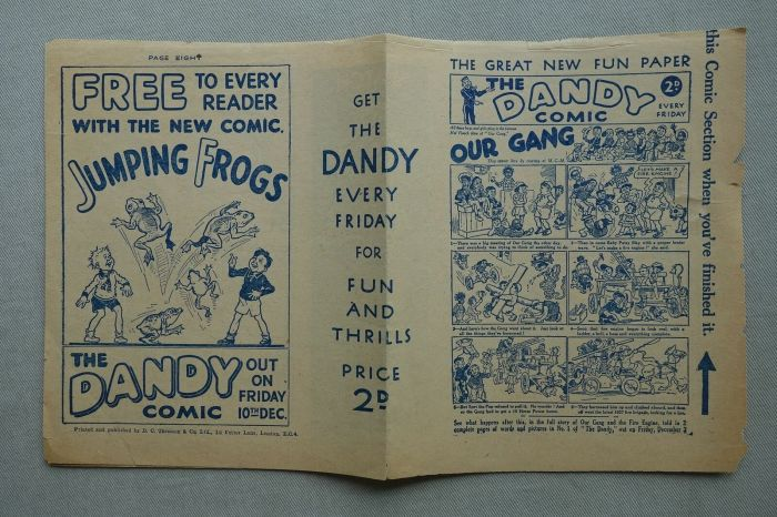 A very rare preview promotion for the first issue of The Dandy