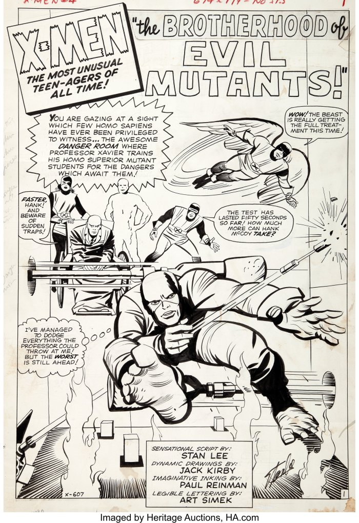 Splash Page from X-Men #4 by Jack Kirby