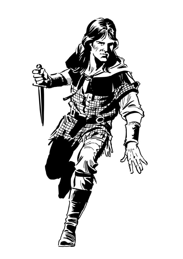 Robin of Sherwood, drawn by Mike Noble
