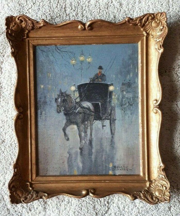 Art by Roland Davies. The canvas has some slight damage, bottom right. Image: WackyWyatt