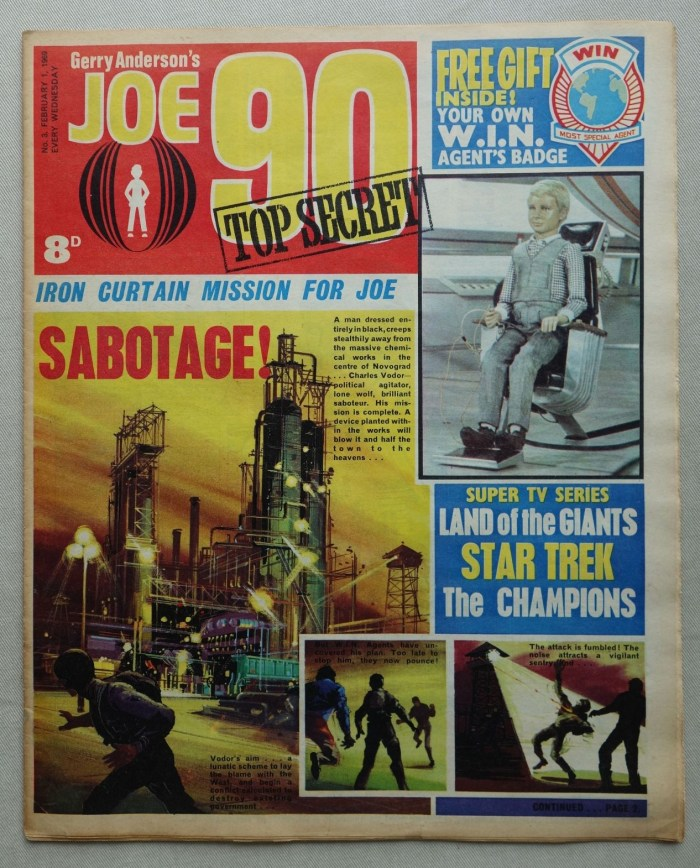 Joe 90 No. 3 - cover dated 1st February 1969