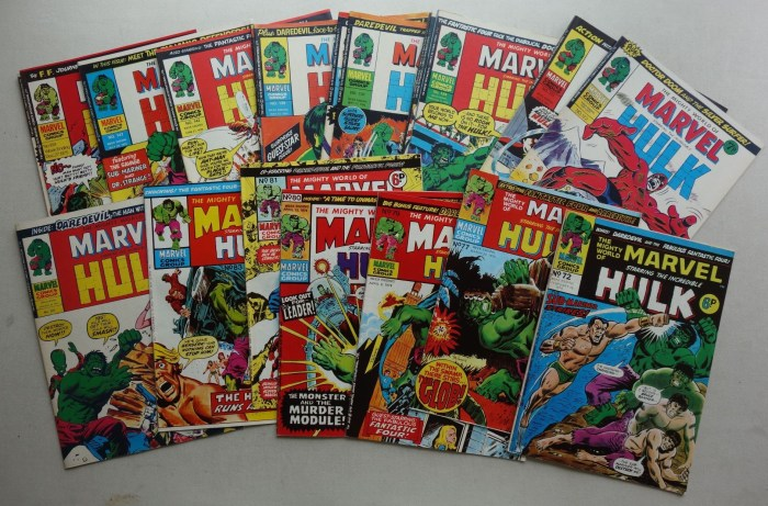 Mighty World of Marvel comic #72-200 (1974-1976)