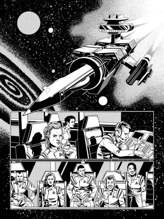 """""""Gutcrawlers"""" by Dan Whitehead and Paul Williams, appearing in The77 #2"""