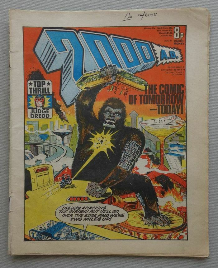 2000AD Prog 5, featuring Judge Dredd, art by Barrie Mitchell