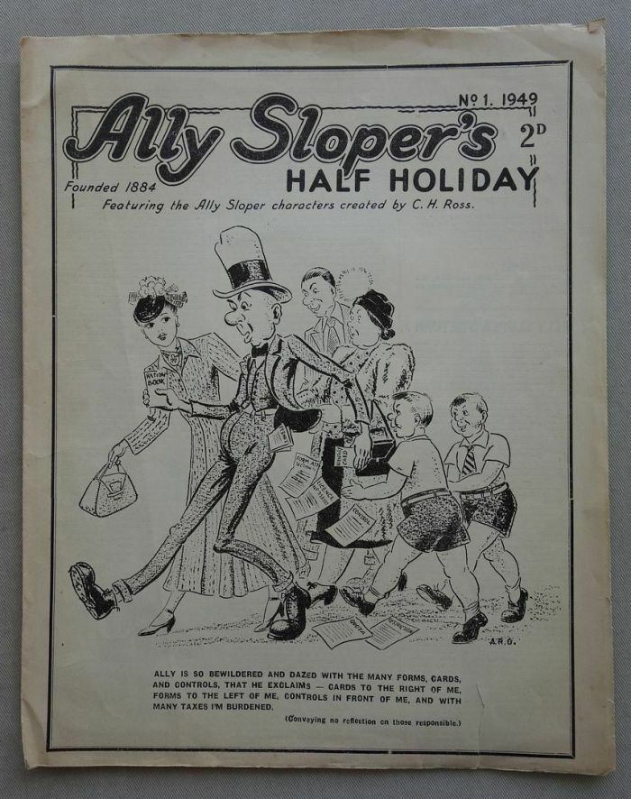 Ally Sloper's-Half-Holiday Comic Number One, published in 1947