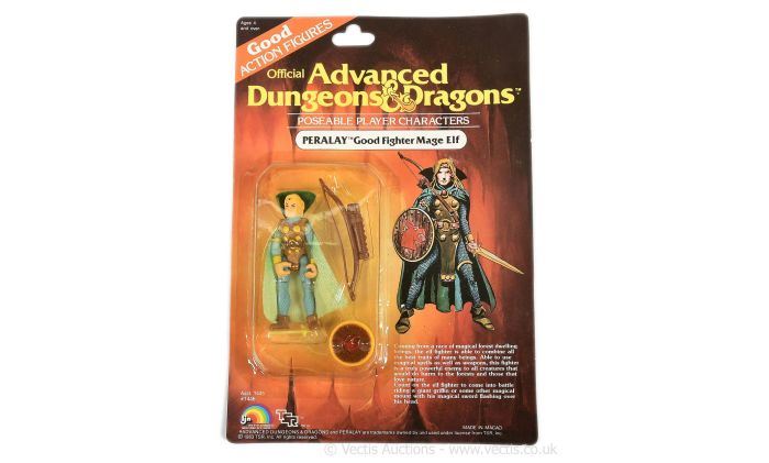 LJN Toys 1983 Advanced Dungeons & Dragons Perlay Good Fighter Mage Elf figure