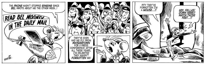 A sample of a proposed Teddy Tail revival strip, by Tim Quinn and Nick Miller