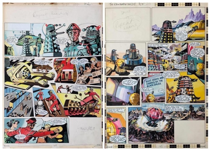 """The Daleks"" art that has surfaced as a result of my initial appeal on Facebook"