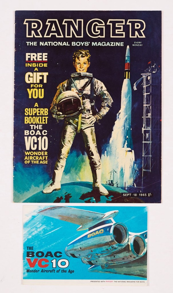Ranger No 1 (1965) with free gift - a  BOAC VC 10 Booklet